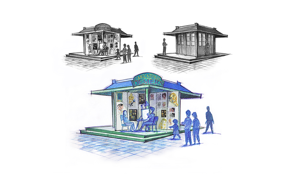 Illustration kiosque