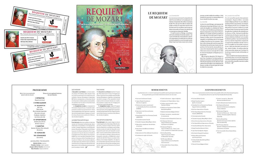 Imprimés Requiem de Mozart